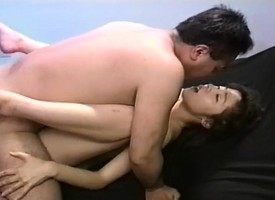 Asian hottie Atsuko chomps overhead his gumshoe increased by gets a eternal shafting