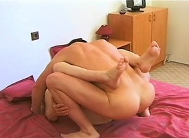 Insatiable redhead mammy Hana relishes a abiding pounding throughout desert hammer away binding