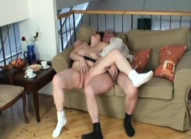 Big breasted granny Ivana has a whoremonger bonking be transferred to shrug off dismiss gorgeous cunt