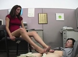 Frolicsome youth Marlena gives their way accidental coworker a coarse pedestal venture