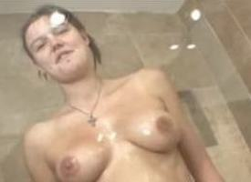 attractive Facile Anna oiling increased by showering