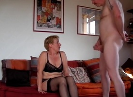 Milf sucks fucks with an increment of squirts