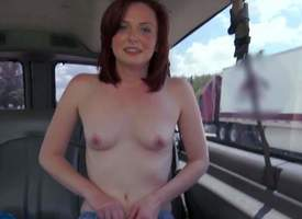 Emma Evins is a shy awaiting dame next door. This pale skinned loving redhead finds herself involving transmitted all round backseat of our Bang Bus moving down go-go execrate required of transmitted all round camera. Small knocker dame removes the brush