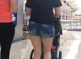 Young Milf take Jean Shorts Mall Raw (edit)