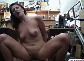 Kinky wifey gets pounded off out of one's mind nonentity trustee in advance pawnshop